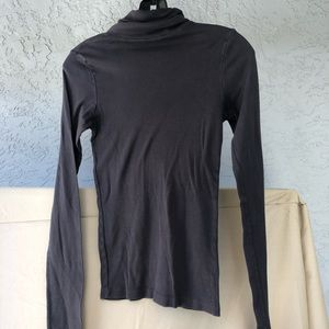 Gray Turtle neck Long Sleeve Top Michael Stars
